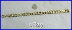 10K Gold Men's Bracelet 14.80 Grams 9.25 Long 1/2 Wide