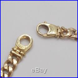 10K Yellow Gold 6.4MM Wide Cuban Curb Link And Engravable Bracelet 8 Inches
