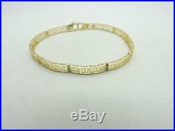 10K Yellow Gold Fancy Link Bracelet 7.25 inch 6.7 grams 4.55 mm wide