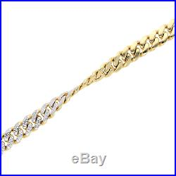 10K Yellow Gold Two-Sided Diamond Cut 13mm Wide Miami Cuban Men's Bracelet 9