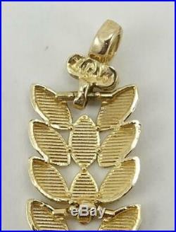 10K yellow gold ladies 7 1/4 long glittery 1/4 wide link bracelet 7.1g