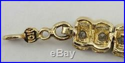 10K yellow gold ladies 7 1/4 x 5mm wide tennis bracelet with diamonds 5.7g