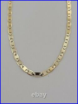 10 Yellow Gold Anklet Bracelet 2mm Wide Solid 10k Gold Lobster Claw Lock