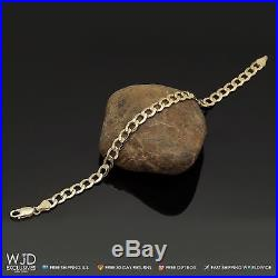 10k Solid Yellow Gold 6.7mm Wide Cuban Curb Link Men's Bracelet 8.5'