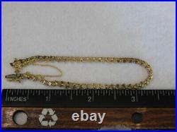 10k Yellow Gold Diamond Tennis Bracelet 7 1/2 6.3 Gram Tw 4mm Wide