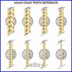 10k Yellow Gold High Polished 7mm Wide Miami Cuban Bracelet Box Clasp 8.5