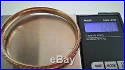 12 Gram 14k Yellow Gold 7 X 8.14 MM Wide Bangle Bracelet