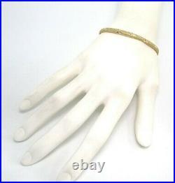 14K Brite Cut Yellow Gold Bangle Bracelet 4.2 grams 1/8 wide