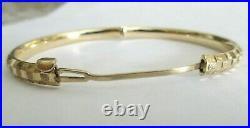 14K Gold Baby Bangle Bracelet 5.60 Grams 5 MM Wide