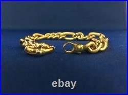 14K Gold Link Bracelet7.5'' Long 8mm wide 15.1 Grams #238