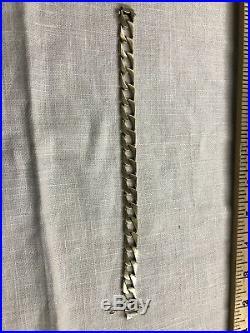 14K Gold Mens Link Bracelet 28.2 Grams 10MM WIDE no Scrap Lot 8.5