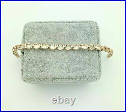 14K Gold Opal Tennis Bracelet- Vintage, Estate- 7 Long- 5 Carats- 4mm Wide
