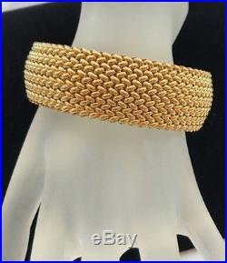 14K Polished Yellow Gold Wide Rice Bracelet