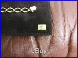 14K SOLID GOLD CUBAN LINK CHAIN BRACELET MEN WOMEN 8mm wide, 20cm (8) long, 11g