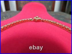 14K SOLID YELLOW GOLD 2.15 CTW NATURAL ROUND DIAMOND 2.5mm WIDE TENNIS BRACELET