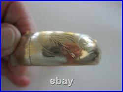 14K Solid Yellow GOLD BRACELET Bangle (25.20 Gram) Hinged Floral 17mm Wide 6.75