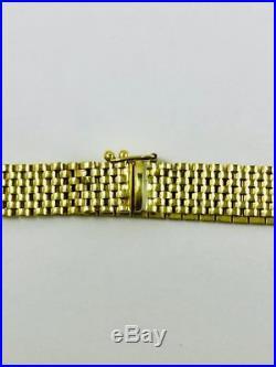 14K Y/G Vintage 8mm Wide Link Bracelet STUNNING