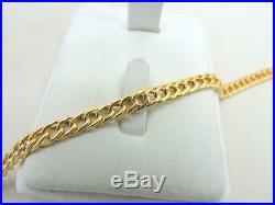 14K Yellow GOLD Fancy Link Bracelet Hollow 7.25 inch 4.6 Grams 5 mm wide