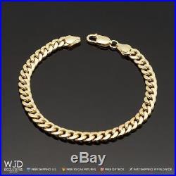 14K Yellow Gold 6mm Wide Miami Cuban Curb Link Men's Bracelet 8.5