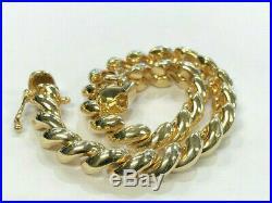 14K Yellow Gold 7 San Marco Bracelet (15.3 Grams, 6mm Wide)