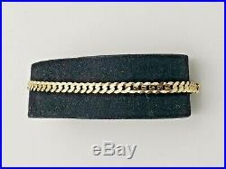 14K Yellow Gold Flat Cuban Bracelet 7 Long 4mm Wide 4.1 Grams