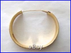 14K Yellow Gold Hinged Bangle Bracelet Etched Design 19 Grams 1/2 Wide