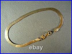 14K Yellow Gold SILK FLEX 7 Serpentine Chain Bracelet, 3.2g, 3.5mm Wide