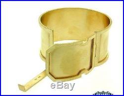 14K Yellow Gold Wide Designer Bangle Bracelet