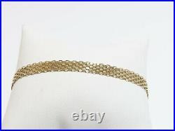 14K Yellow Gold Wide Link Bracelet
