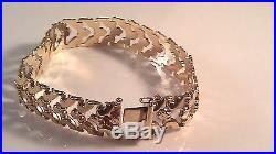 14K yellow Gold 8 long bracelet 1.5 cm wide 17.72 grams Aurafin #