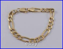14K yellow gold 4.5 baby child figaro bracelet 4.5mm wide Italy 4.1g