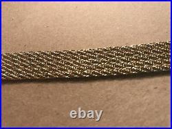 14 Kt Yellow Gold Bracelet 7.25 Long X. 5 Wide