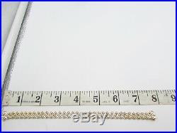 14k Gold Diamond Triple Row Bracelet 8.5mm Wide 7.5 Inches 14.5 Grams