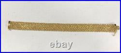 14k Gold Mesh Bracelet 7.25 long 1/2 wide