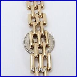 14k Gold Wide Open Panther Link Hidden Clasp Bracelet 28 grams 7 inch