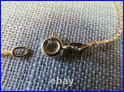 14k Italy Yellow Gold Bracelet Box Chain 1.66 Gram. 84 mm Wide 7