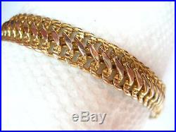14k MILOR - Yellow Gold Link Bracelet 7 inches x 9 mm wide weight 6.31 grams