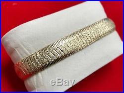 14k Solid Gold Herringbone Bracelet Women 7.3 18 grams 10mm wide. Stunning. Rare