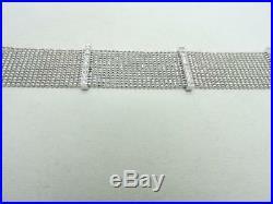 14k White Gold Diamond Mesh Ball Bead Bracelet 3/4 Wide 7 long 20.5 Grams