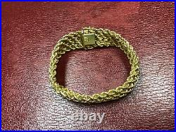 14k Wide Solid Gold Unisex Bracelet. Over 20 grams. 7.5 in. Made in Italy