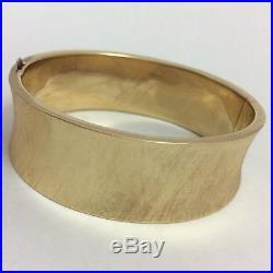 14k Yellow Gold 20mm Wide Bangle Bracelet