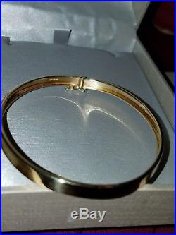 14k Yellow Gold 5mm Wide Solid, Polished, Flexible and Oval Bangle Bracelet