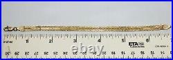 14k Yellow Gold Bismark Link Bracelet 7-1/4 x 1/4' wide 3.9g