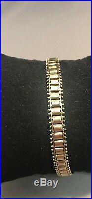 14k Yellow Gold Bracelet, 7, 6.5mm wide, 10.3g