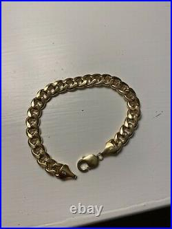 14k Yellow Gold Cuban Link Bracelet 10.0mm Wide / 21 grams / 9 Long