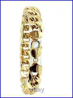 14k Yellow Gold Cuban Link Bracelet 13mm Wide / 38.21g / 8 Long
