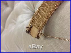 14k Yellow Gold DIAMOND FLIP TOP BRACELET WATCH 1 WIDE/HEAVY diamonds hamilton