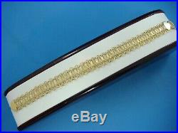 14k Yellow Gold Flexible Link Bracelet, 8 Inches Long, 6.1 Grams, 12.5 MM Wide
