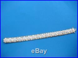 14k Yellow Gold Heavy 34.3 Grams 13 MM Wide Ladies 3 Carat T. W. Diamond Bracelet