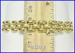 14k Yellow Gold Mesh Fancy Link 7 Wide 3/8 Estate Bracelet